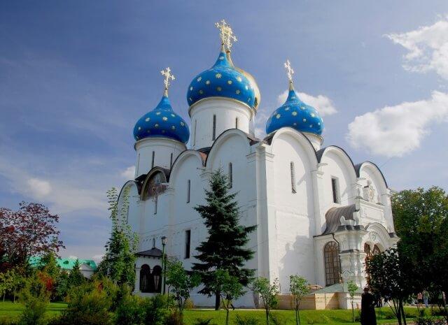 Успенский собор, самый большой собор Троице-Сергиевой Лавры
