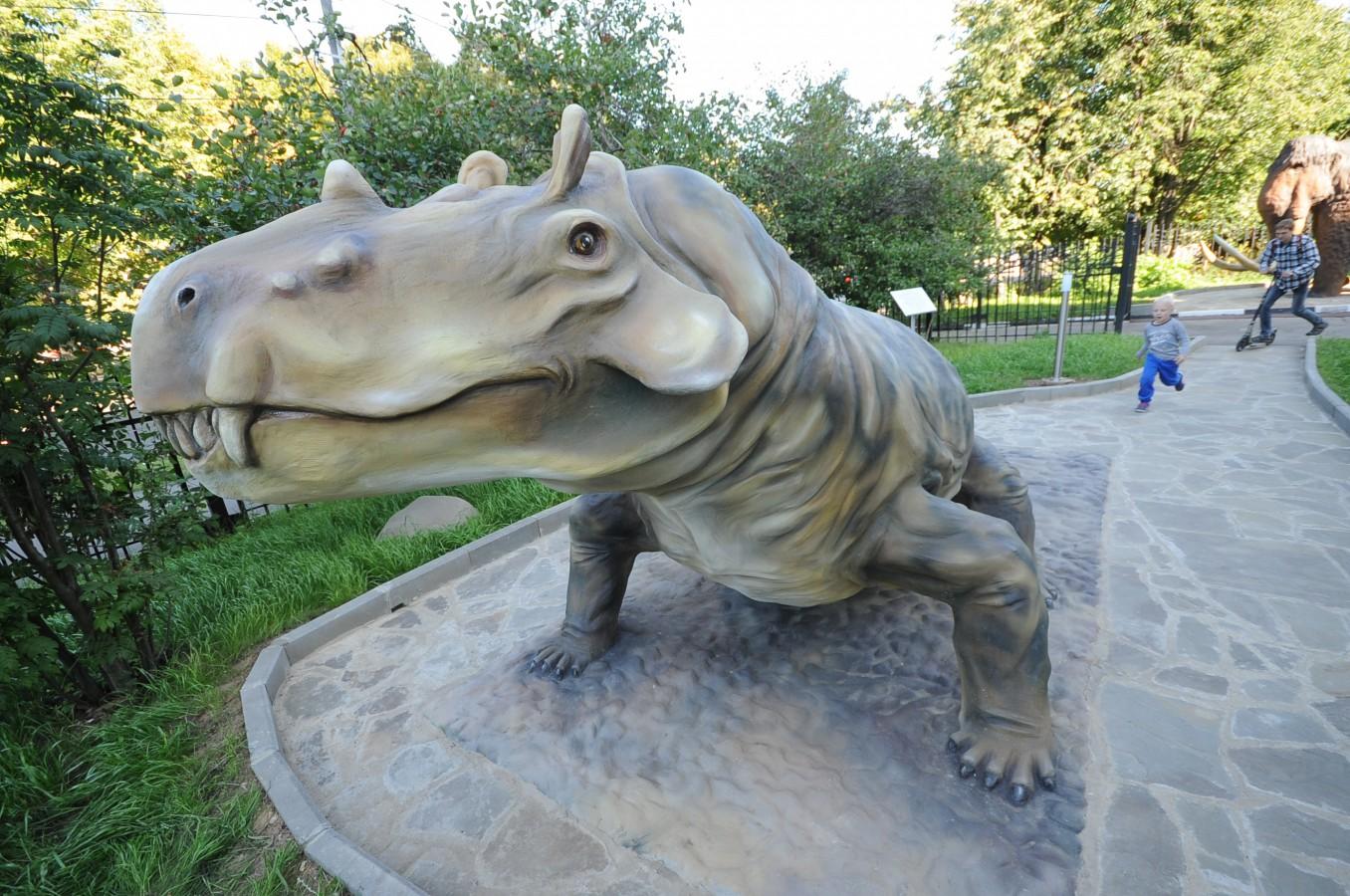 Мини-Палеопарк в Дарвиновском музее
