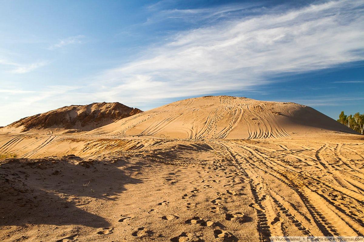 Песчаные дюны Сычево