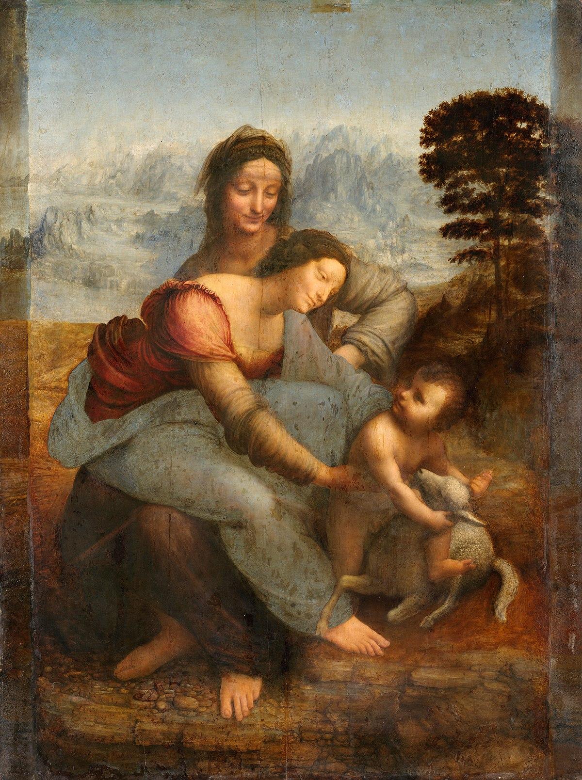 Богородица с младенцем и святой Анной